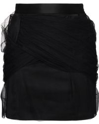Y. Project - Mini Skirt With Tulle Draping - Lyst