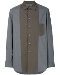 Uma Wang - Contrast Fitted Shirt - Lyst