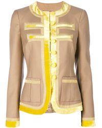 Givenchy Chaqueta con ribete en contraste - Multicolor