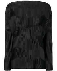 Capucci - Contrast Ribbed Detail Top - Lyst