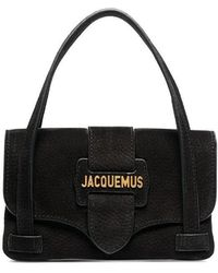 Jacquemus - Black Le Sac Minho Nubuck Leather Mini Bag - Lyst