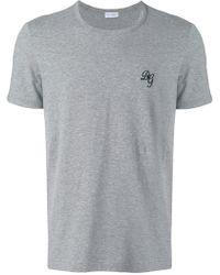 Dolce & Gabbana - T-Shirt mit aufgesticktem Logo - Lyst