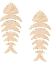 Oscar de la Renta - Bold Fish Long Earrings - Lyst