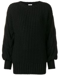P.A.R.O.S.H. - Ribbed Cable Knit Jumper - Lyst
