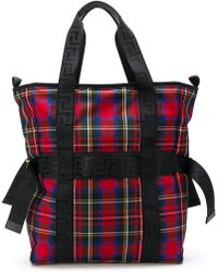 Versace - Checked Tote Bag - Lyst