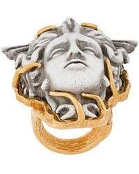 Versace - Medusa Finger Ring - Lyst