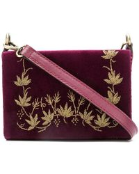 Zeus+Dione - Floral Embroidery Crossbody Bag - Lyst