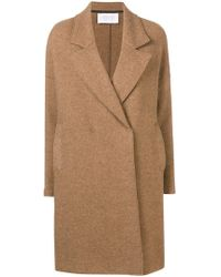 Harris Wharf London - Boxy Double-breasted Coat - Lyst