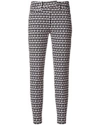 Dondup - Printed Skinny Cropped Trousers - Lyst
