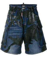 DSquared² - Mid-rise Printed Shorts - Lyst