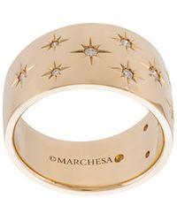 Marchesa Anneau Star en or blanc 18ct