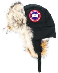 Canada Goose - Coyote-fur Aviator Hat - Lyst