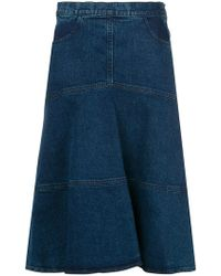 See By Chloé - Flared Denim Skirt - Lyst