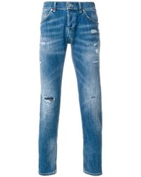 distressed stonewashed jeans - Blue Dondup Original SYGjKh