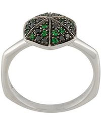 Stephen Webster - 18kt White Gold Hexagon Ring - Lyst
