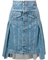 Levi's - Asymmetric Hem Denim Skirt - Lyst