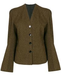 Lemaire - Buttoned Fitted Jacket - Lyst
