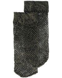 Twin Set - Lurex Fishnet Socks - Lyst