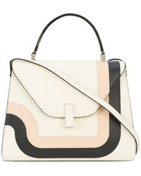 Valextra - Contrast Geometric Trim Handbag - Lyst