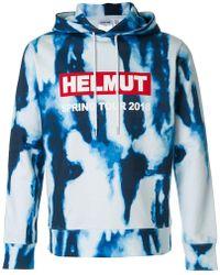 Helmut Lang - Tie-dye Logo Hoodie - Lyst