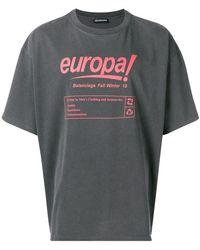 Balenciaga - 'Europa!' T-Shirt - Lyst