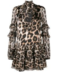 Philipp Plein - Leopard Print Mini Dress - Lyst