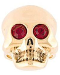 Moschino - Gem Eye Skull Ring - Lyst
