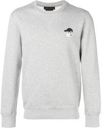 Alexander McQueen - Embroidered Skull-patch Sweatshirt - Lyst