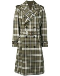 Burberry - Checked Trench Coat - Lyst