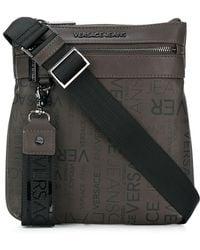 Versace Jeans - Logo Zipped Messenger Bag - Lyst