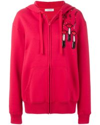 Valentino - Embroidered Cotton Hoodie - Lyst