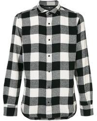 Hydrogen   Checked Shirt   Lyst