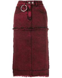 BROGNANO - Stitched Panels Denim Skirt - Lyst