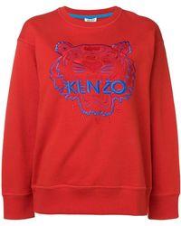 6a4b43a4 KENZO Love Sweatshirt in Red - Lyst