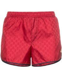 Gucci - Monogram Bee Embroidery Swim Shorts - Lyst