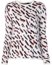 Derek Lam - Abstract Animal Jacquard Fitted Jumper - Lyst