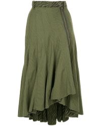 Hysteric Glamour - Ruffled Asymmetric Skirt - Lyst