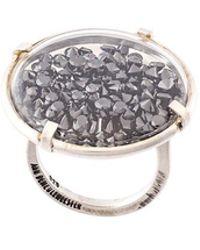 Ann Demeulemeester - Black Diamond Ring - Lyst