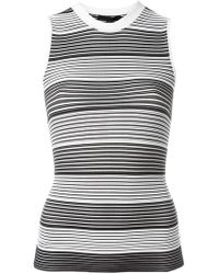 Alexander Wang - Striped Tank Top - Lyst