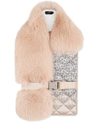 Fendi - Quilted Detailed Collar - Lyst
