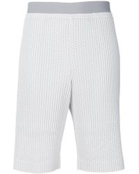 Homme Plissé Issey Miyake - Embroidered Shorts - Lyst
