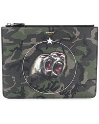 Givenchy - Monkey Brothers Camouflage Clutch - Lyst