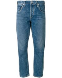 Citizens of Humanity - Cropped Straight Jeans - Lyst