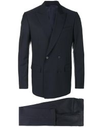 Versace - Double Breasted Suit - Lyst