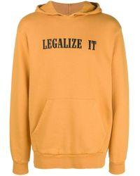 Palm Angels - Slogan Patch Hooded Sweatshirt - Lyst
