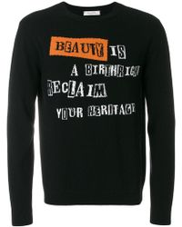 Valentino - Beauty Is A Birthright Intarsia Jumper - Lyst