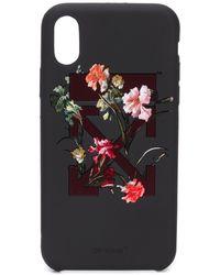 Off-White c/o Virgil Abloh Floral iPhone X case - Schwarz