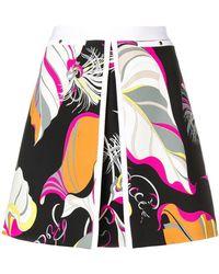Emilio Pucci - Black Frida Print Mini Skirt - Lyst