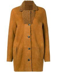 Closed - Reversible Shearling Coat - Lyst