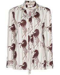 42ff852aea7 Chloé - Horse-print Shirt - Lyst